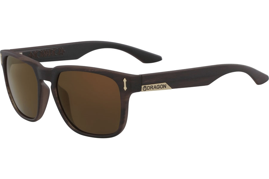 Dragon MONARCH Sunglasses in Matte Woodgrain Bronze