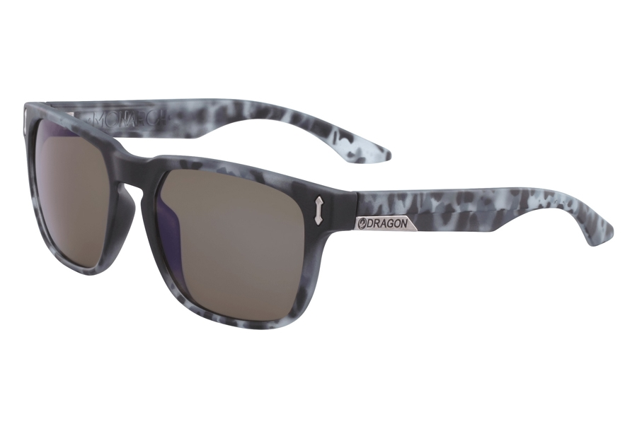Dragon MONARCH Sunglasses in Matte Midnight Tortoise Blue I