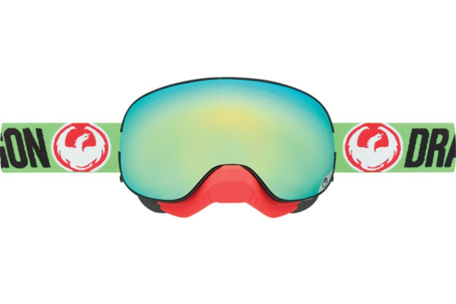 Dragon MX X2 Goggles in Flash Green / Smoke Gold Ion + Yellow Red Ion