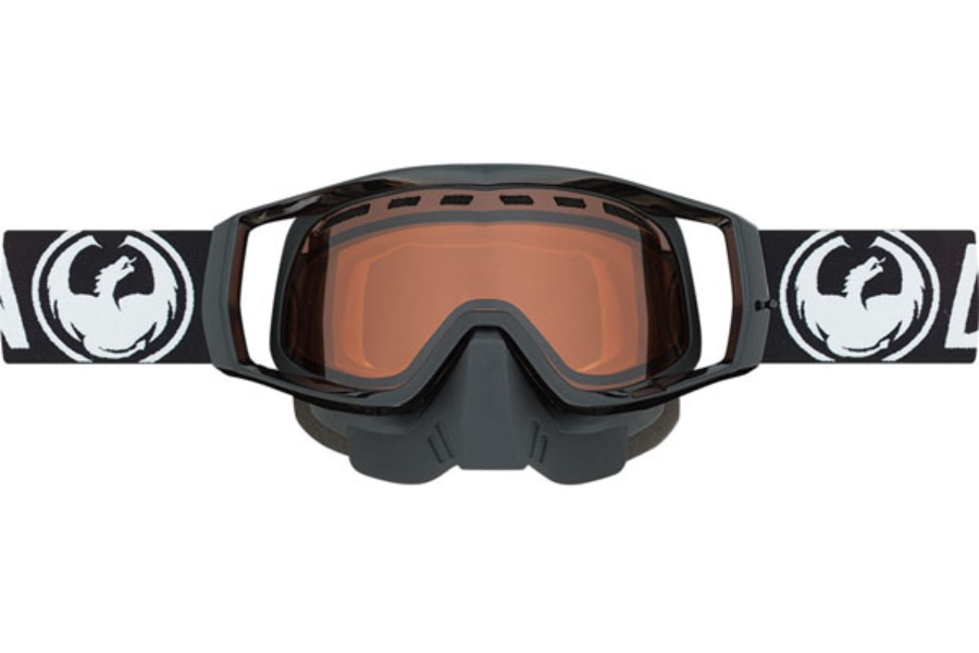 Dragon MX VENDETTA - Continued II Goggles in Snow Coal / Amber (Size :- Medium Fit)