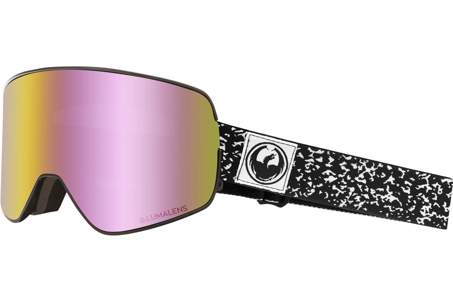 Dragon NFX2 Continued Goggles in Scribe W/ Pink Ion & Dark Smoke