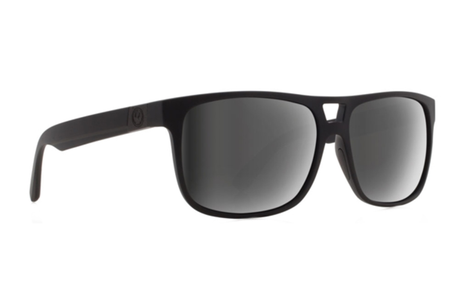 Dragon ROADBLOCK Sunglasses in Matte Black H2O/Silver Ion Polar