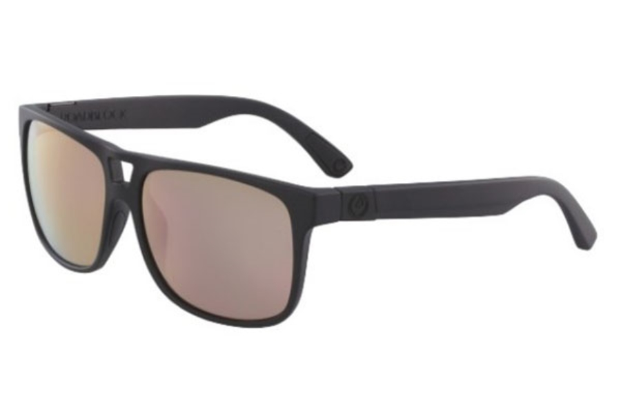 Dragon DR ROADBLOCK ION Sunglasses in 008 Matte Black With Rose Gold Lens