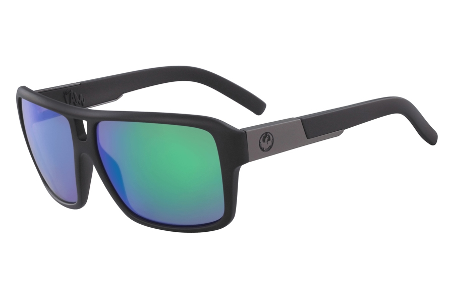 Dragon THE JAM ION Sunglasses in Matte Black Green Ion