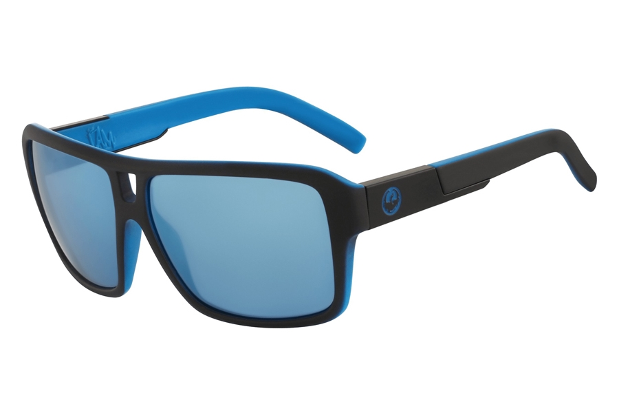 Dragon THE JAM ION Sunglasses in Matte Black Sky Blue Ion