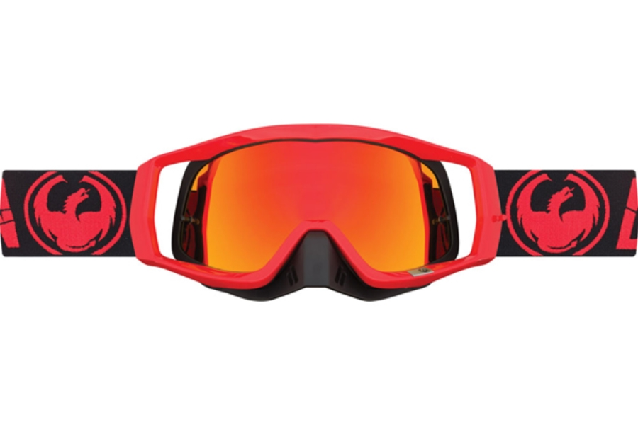 Dragon VENDETTA - Continued Goggles in 002 Mirage Fire / Red ION (Size :- Medium Fit)