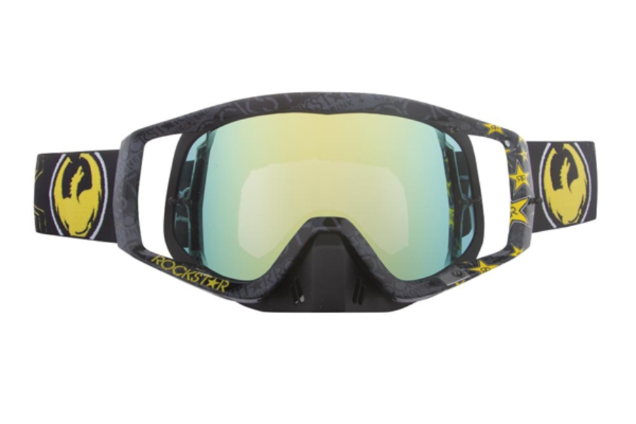 Dragon VENDETTA - Continued Goggles in 012 Roackstar Black / Gold ION (Size :- Large Fit)