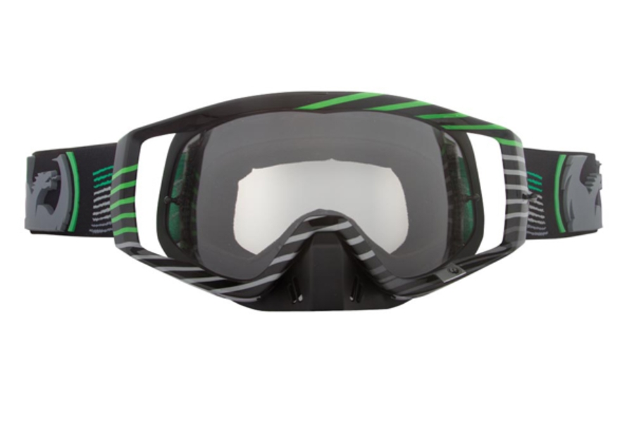 Dragon VENDETTA Goggles in 017 Linear Green / Clear (Size :- Large Fit)