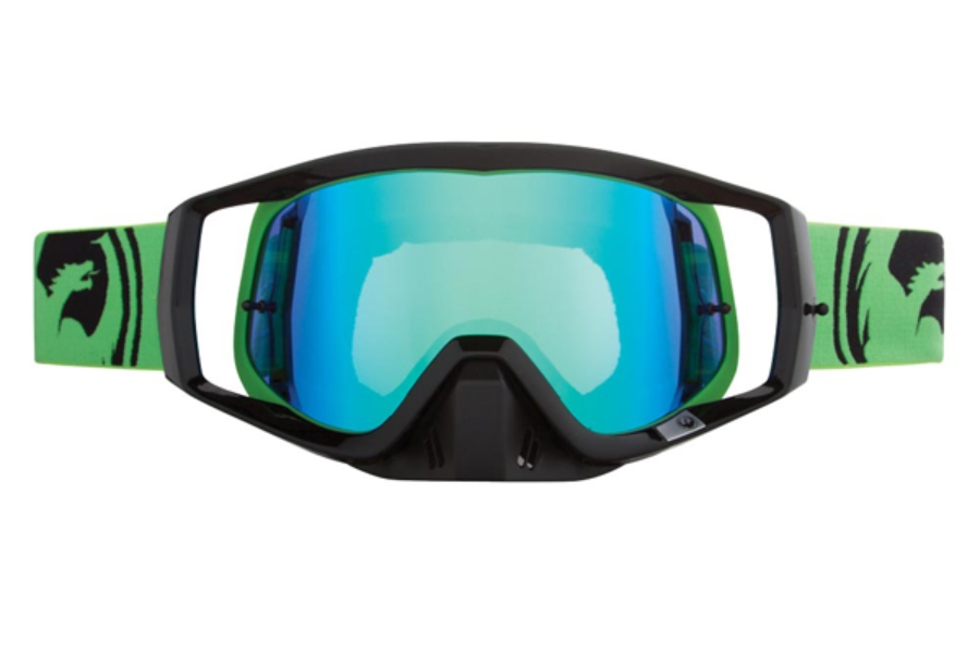 Dragon VENDETTA - Continued Goggles in 022 Green Black Split / Green ION (Size :- Large Fit)