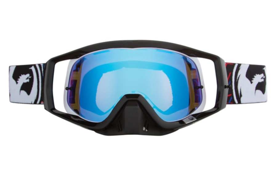 Dragon VENDETTA - Continued Goggles in 023 Overlap / Blue Steel (Size :- Large Fit)