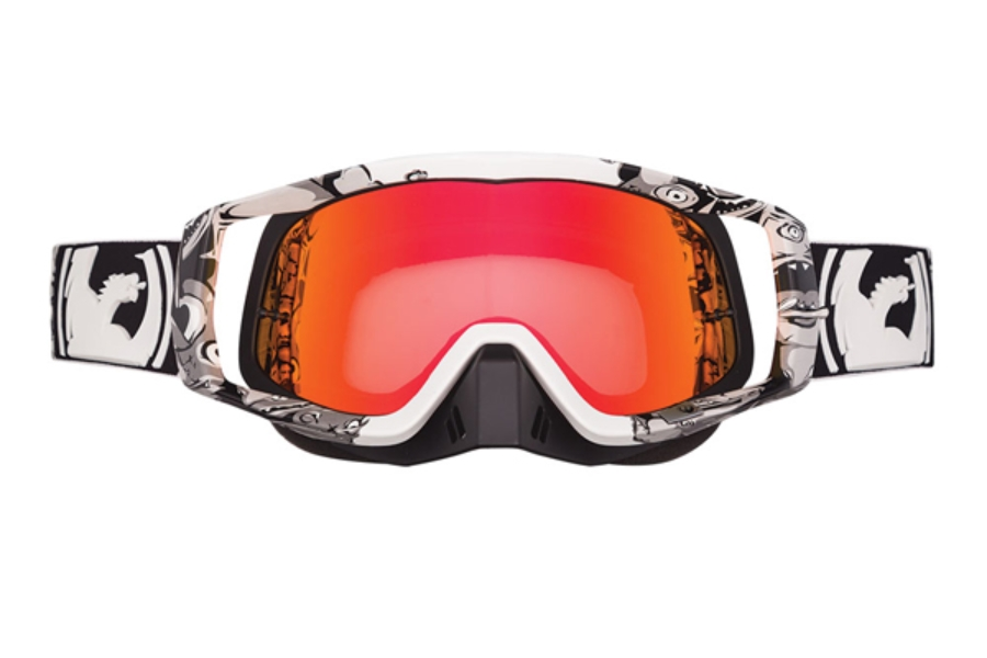 Dragon VENDETTA - Continued Goggles in 027 Mr Dvice /Red Ion (Size :- Large Fit)