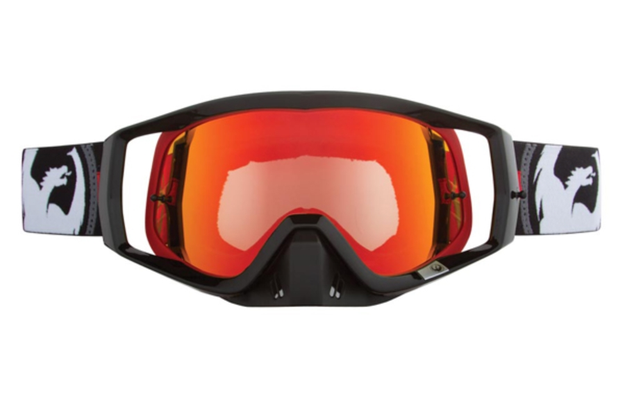 Dragon VENDETTA - Continued Goggles in 028 Bullet / Red ION (Size :- Large Fit)