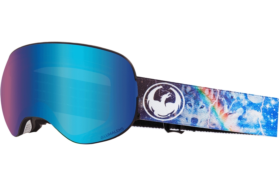 Dragon X2 - Continued Goggles in Galaxy W/ Blue Ion & Amber