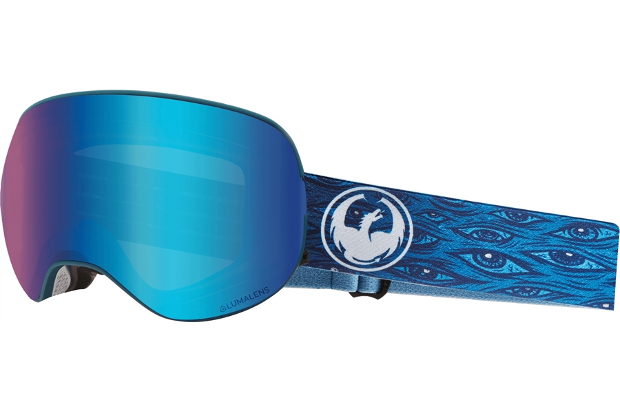 Dragon X2 - Continued Goggles in Midnight W/ Blue Ion & Amber
