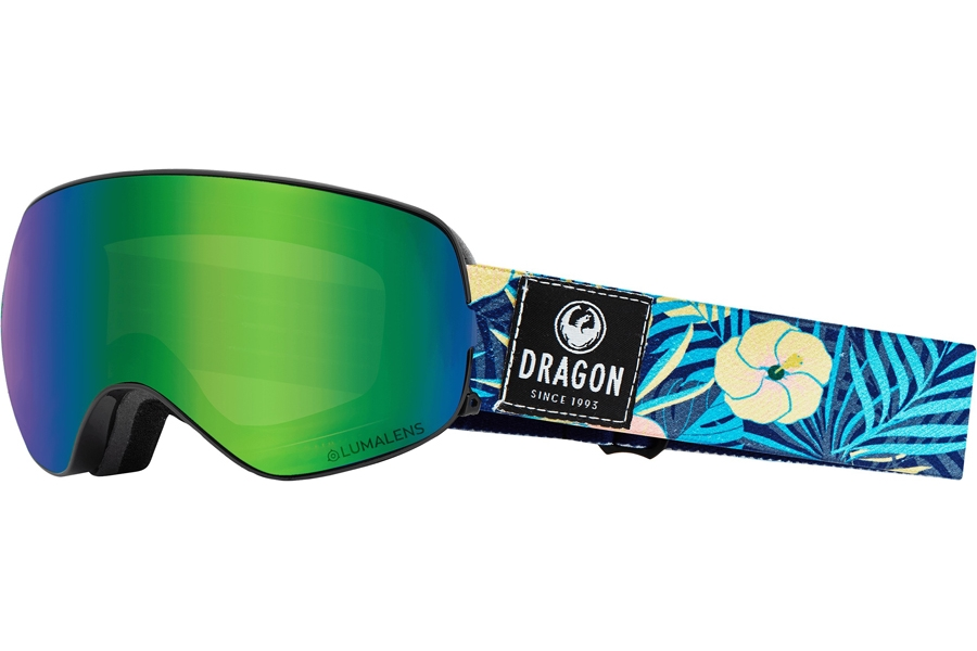 Dragon X2S - Continued I Goggles in Aloha W/ Green Ion & Amber