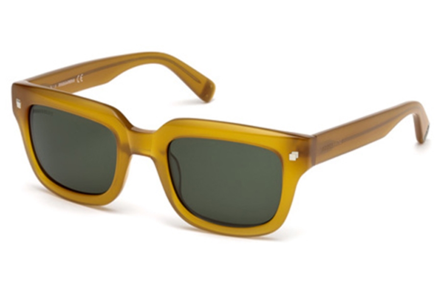 Dsquared DQ0238 LUKE T. Sunglasses in 40N - Matte Yellow / Green