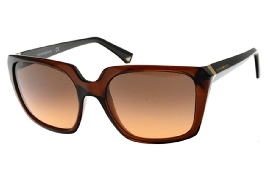 Emporio Armani EA4026 Sunglasses in 519818 Transparent Brown Orange Gradient