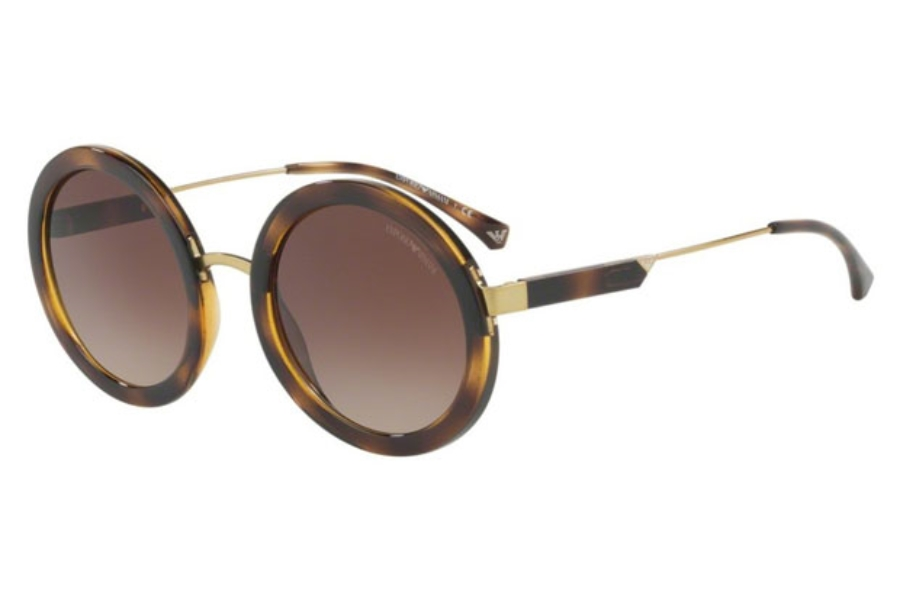 Emporio Armani EA4106 Sunglasses in 502613 Dark Havana / Brown Gradient