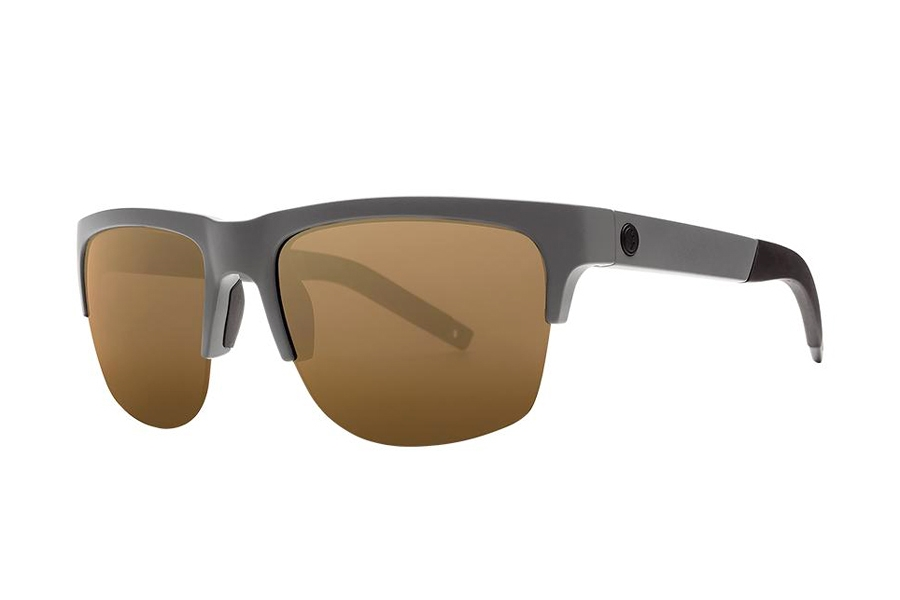 Electric Knoxville Pro Sunglasses in EE16166681 Matte Grey w/Bronze Pro
