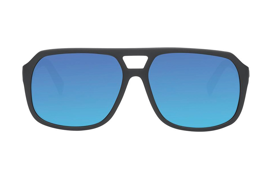 Electric Dude Sunglasses in EE16701062 Matte Black w/Blue Vhrome