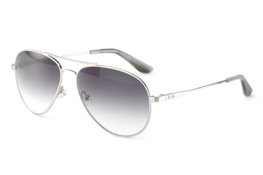 Converse Black Canvas Endorser Sunglasses in Brushed Silver
