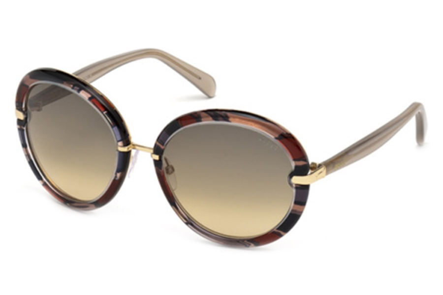 Emilio Pucci EP0012 Sunglasses in 20B Grey/Other/Gradient Smoke