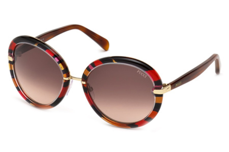 Emilio Pucci EP0012 Sunglasses in 77F Fuxia/Other/Gradient Brown