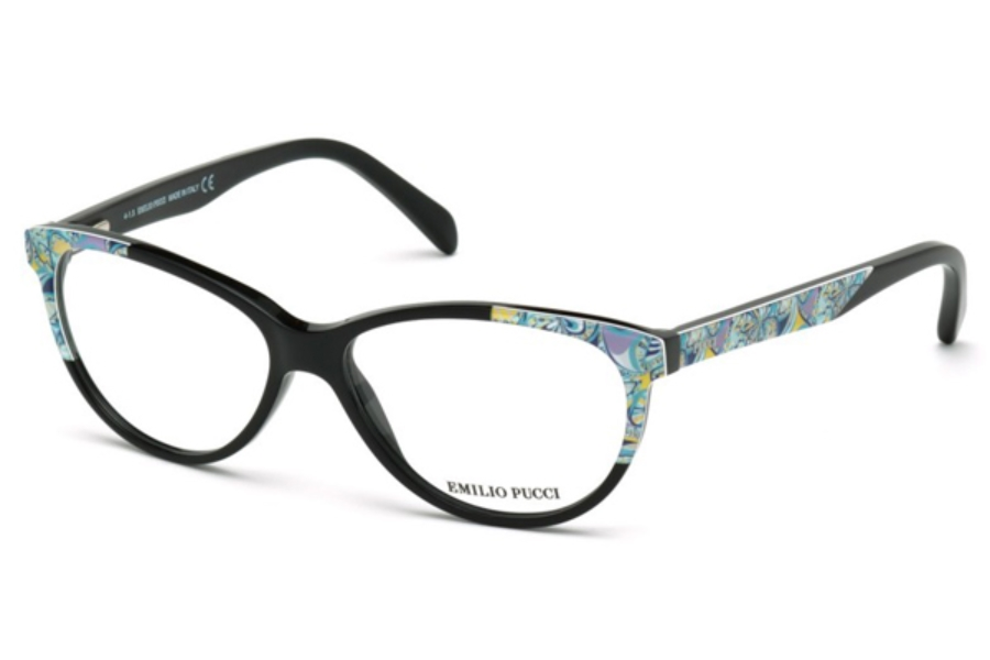 Emilio Pucci EP5022 Eyeglasses in 001 - Shiny Black