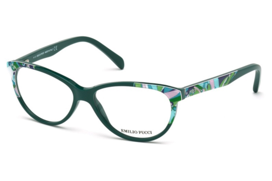 Emilio Pucci EP5022 Eyeglasses in 093 - Shiny Light Green