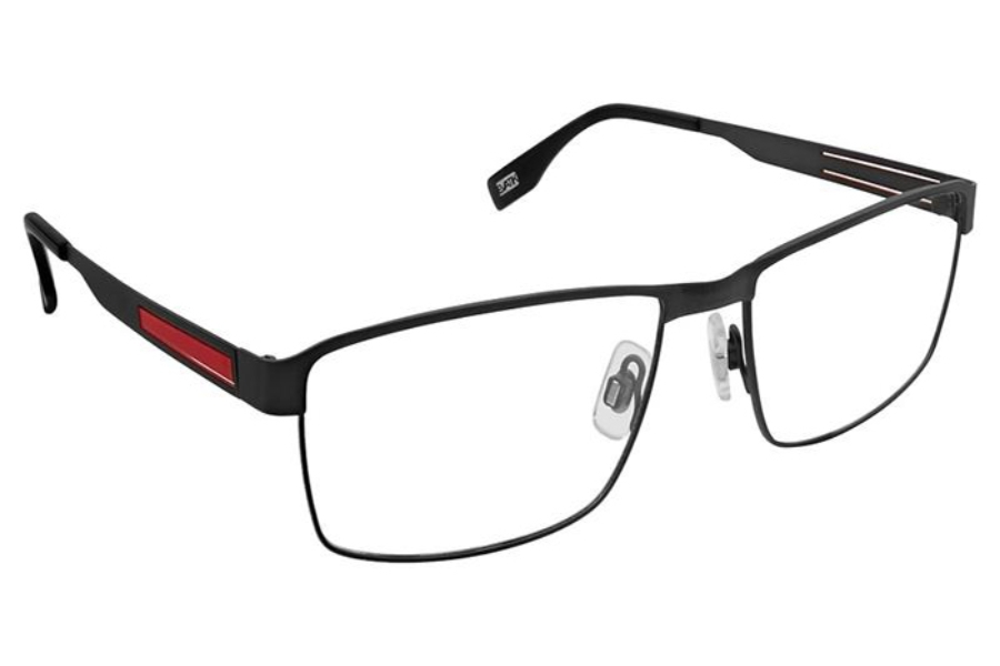 Evatik EVATIK 9176 Eyeglasses in 975 Charcoal Red