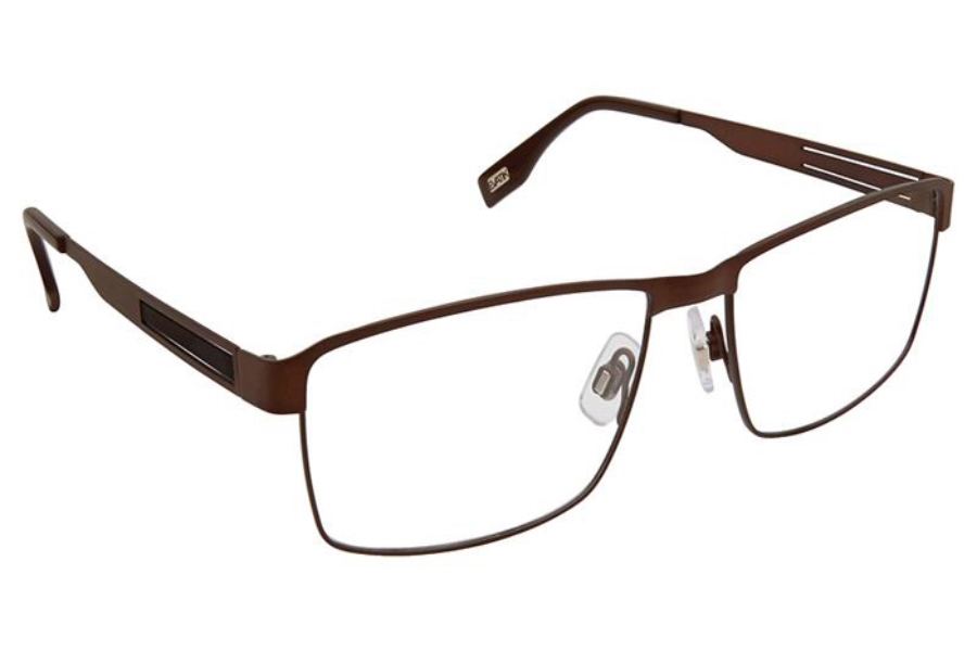 Evatik EVATIK 9176 Eyeglasses in 977 Brown Black