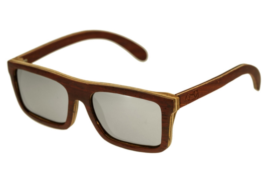 Earth Lanikai Sunglasses in 014RM Rosewood Maple/Silver
