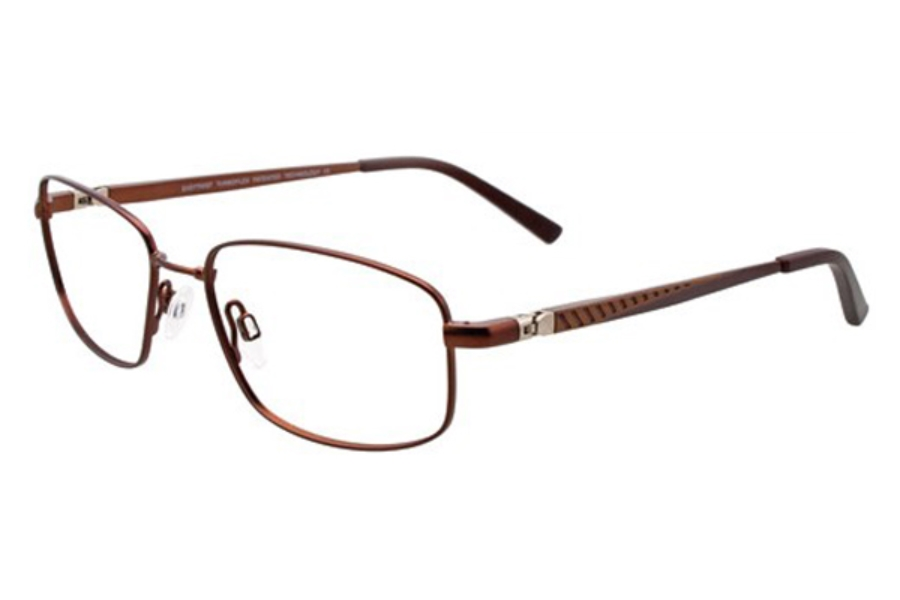 Easytwist ET966 Eyeglasses in 10 Matte Chocolate and Golden Brown