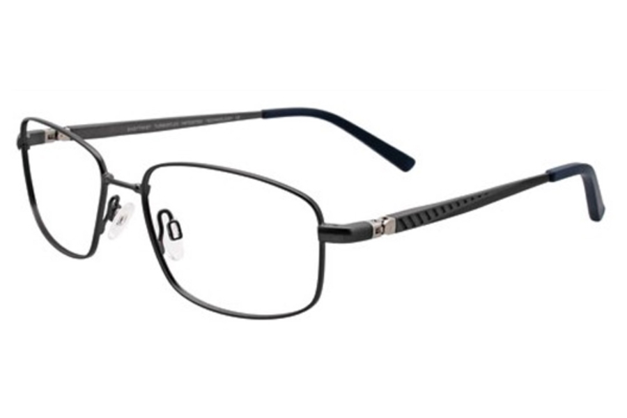 Easytwist ET966 Eyeglasses in 20 Matte Dark Steel and Steel
