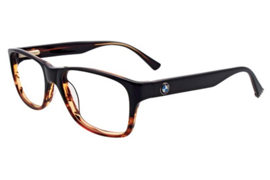 BMW B6015 Eyeglasses in 90 Black And Crystal