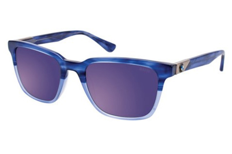 BMW B6522 Sunglasses in 50- Marbeled Blue