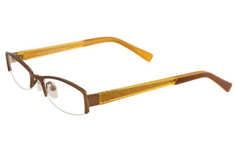 EasyLook EC143 Eyeglasses in 10 CHOCO/BROWNISH GOLD,BROWN
