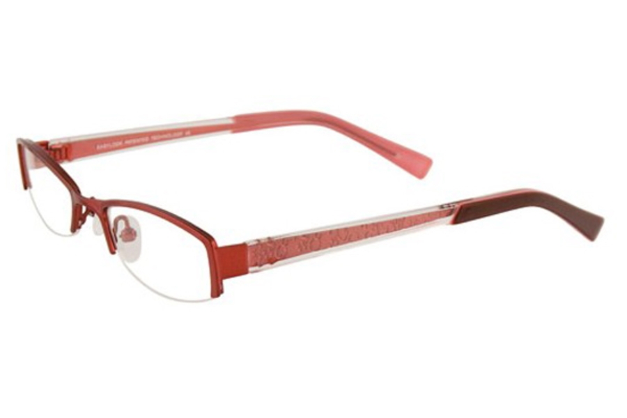 EasyLook EC143 Eyeglasses in 30 DARK PINK/CLEAR & PINK