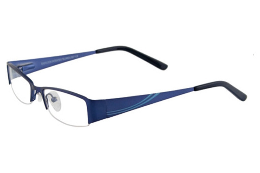 EasyLook EC198 Eyeglasses in 50 ROYAL BLUE & LGT BLUE
