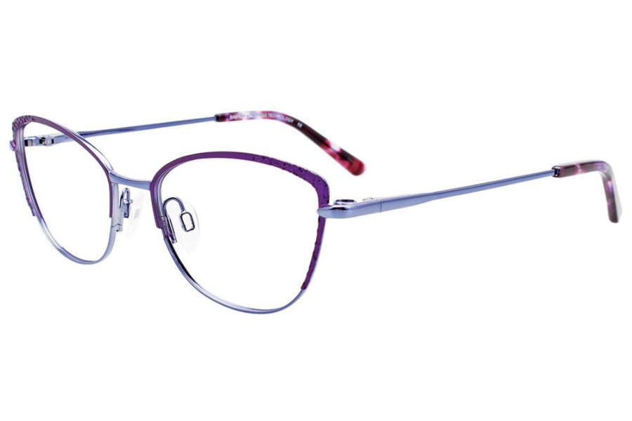 Easyclip EC527 w/ Magnetic Clip-On Eyeglasses in 080 - Satin Violet & Shiny Blue