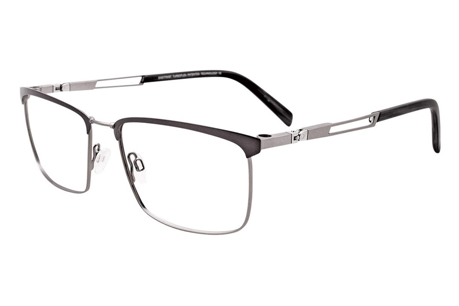 Easytwist CT 264 w/ Magnetic Clip-On Eyeglasses in 020 - Matt Steel & MattBlack