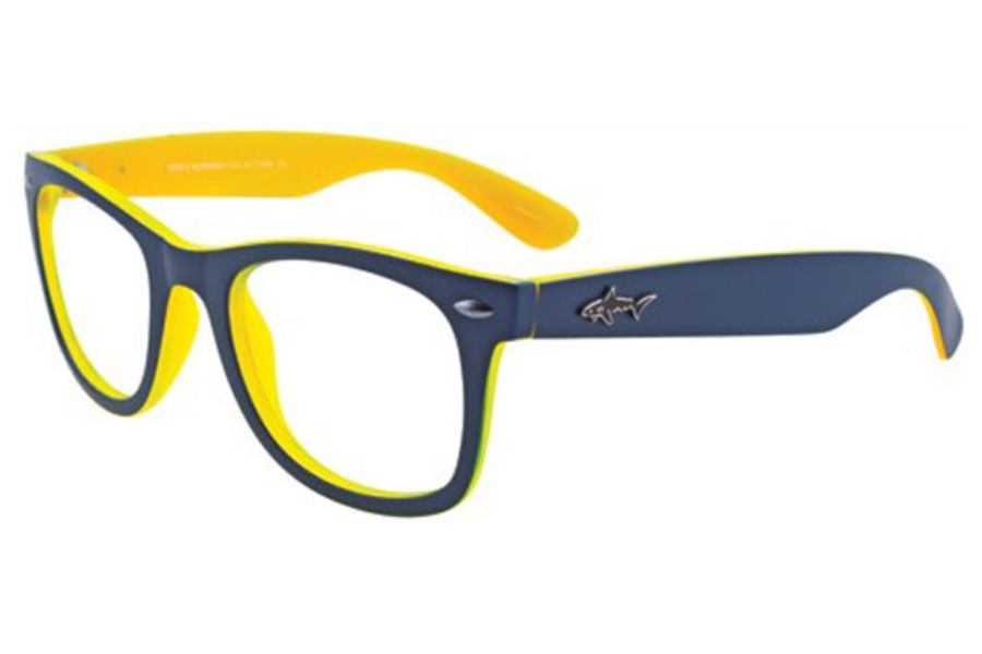 Greg Norman GN229 Eyeglasses in 55 Blue Yellow