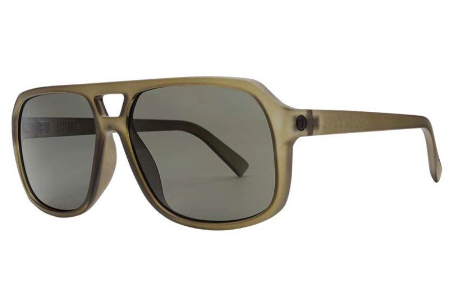 Electric Dude Sunglasses in EE16767642 Matte Olive w/Polarized Grey