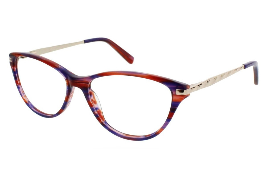 Ellen Tracy Sochi Eyeglasses in Red Multi