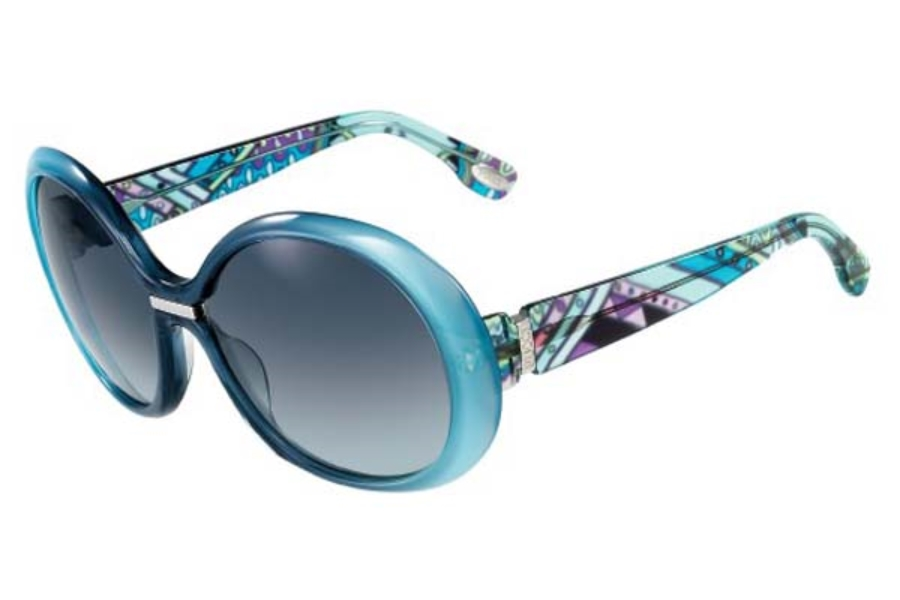 Emilio Pucci EP680S Sunglasses in 428 Blue/Azure Gradient