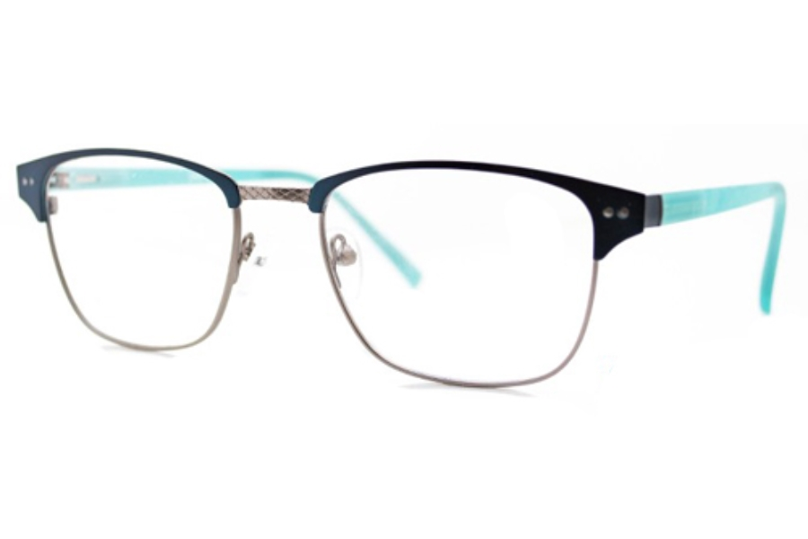 Enchant ERC 62 Eyeglasses in Blue/Gun Metal