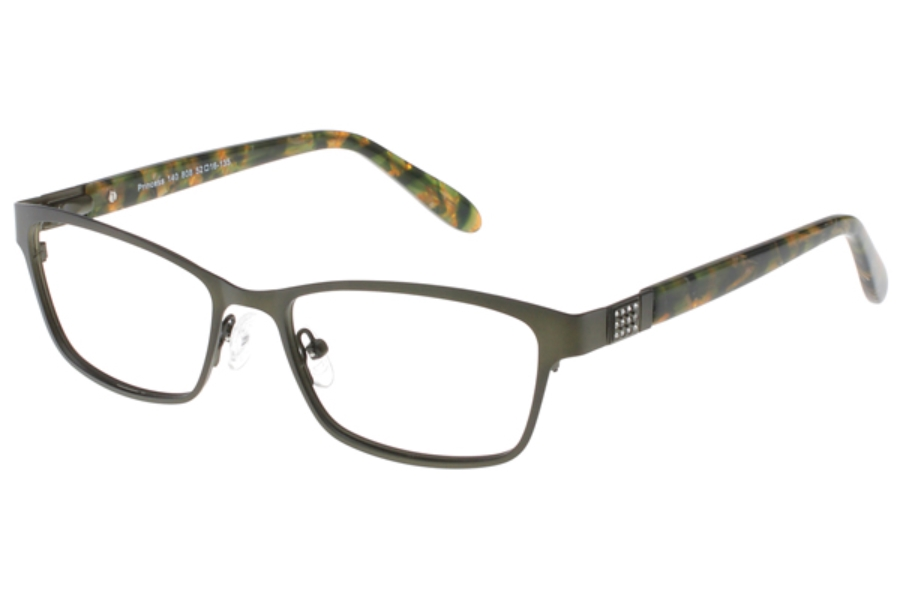 Exces Exces Princess 140 Eyeglasses in 808 Olive-Mottled