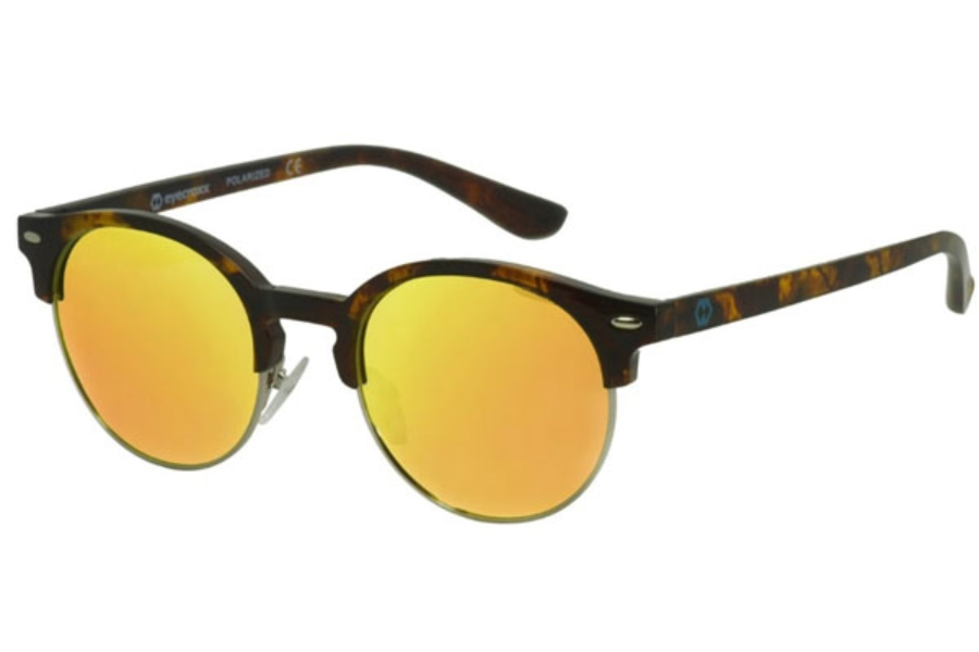 Eyecroxx ECKS1702 Sunglasses in C2 Gun Tort/Gold Mirror