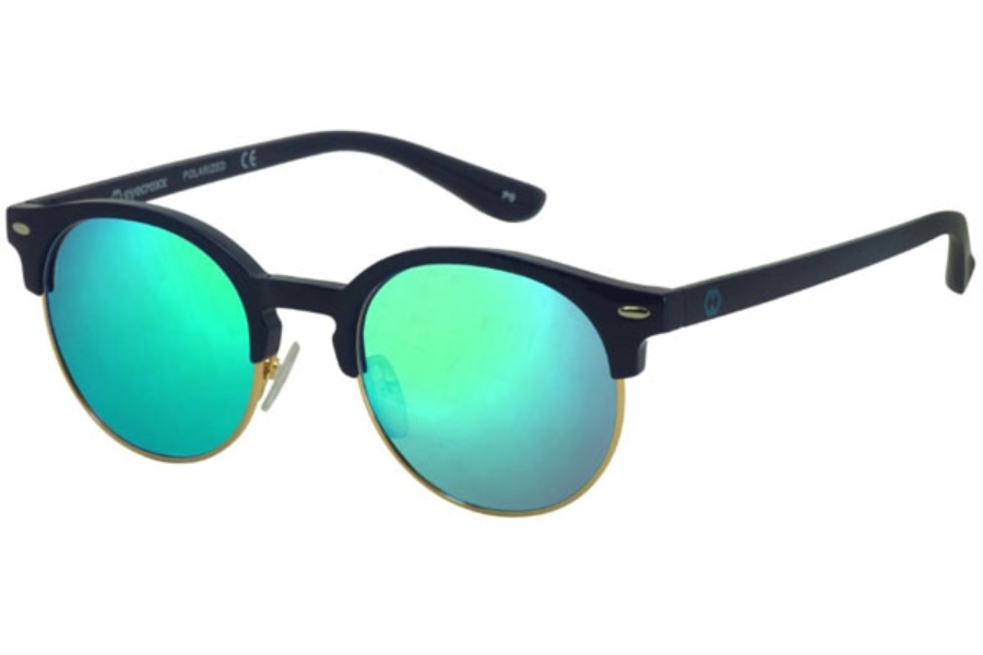 Eyecroxx ECKS1702 Sunglasses in C3 Gold Navy/Ice Blue Mirror