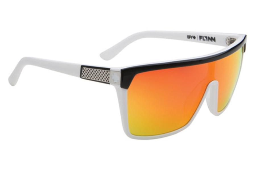 a333cb28935 ... Spy FLYNN Sunglasses in Black   White w  Grey   Red Flash Mirror Lenses  ...